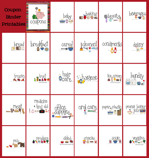 Krazy coupon lady printable table of contents and category pages