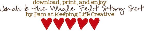 Download FREE Jonah flannel board printables