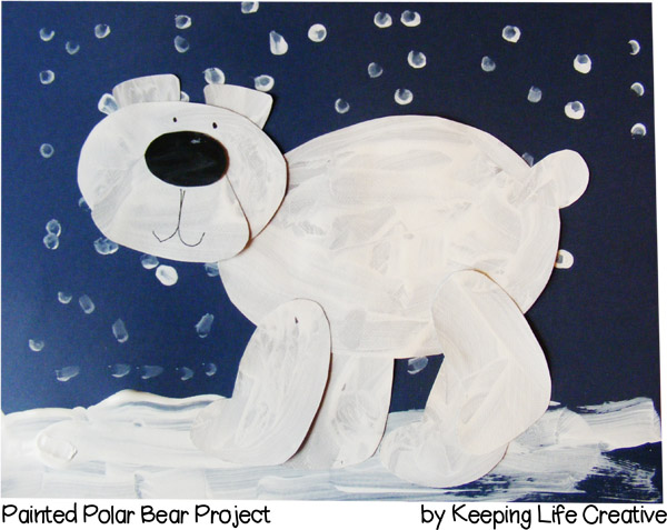 Printable Painted Polar Bear Craft - Keeping Life Creative