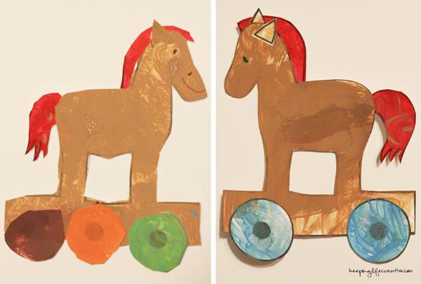 Trojan Horse Printable Craft - Keeping Life Creative
