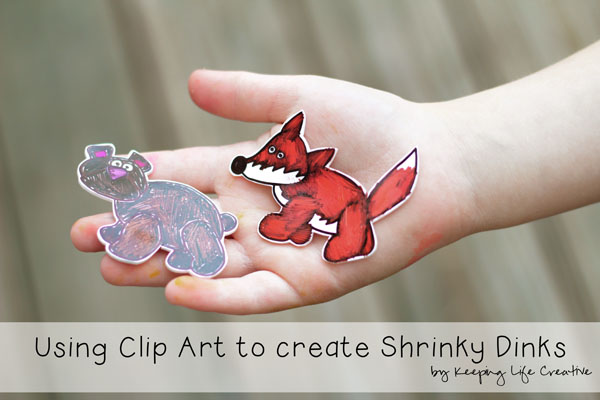 using clip art to create shrinky dinks