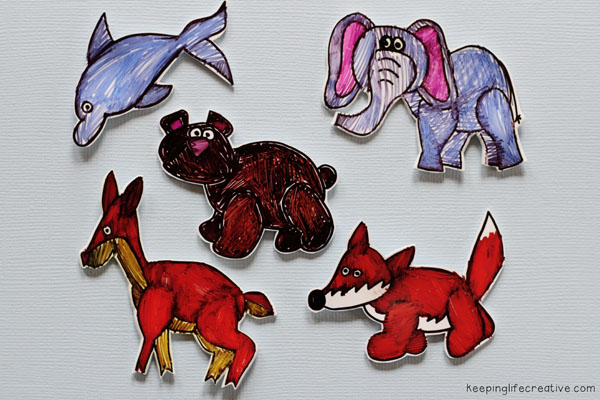shrinky dinks with clip art