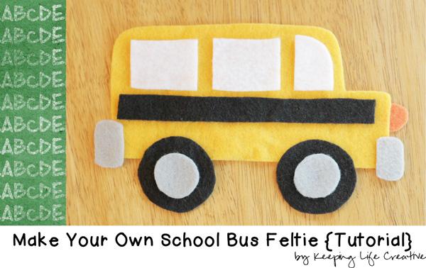 school bus feltie tutorial