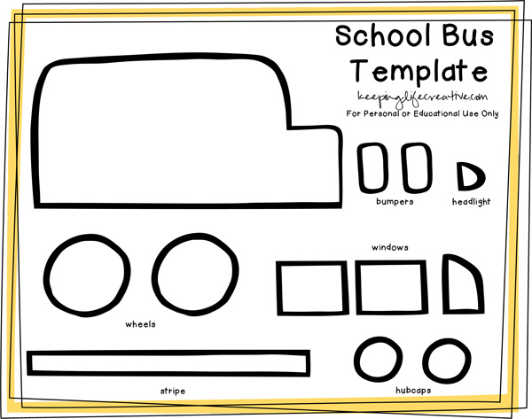 school bus template by Keeping Life Creative