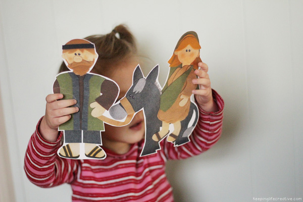 scripture storytelling with printables by Keeping Life Creative