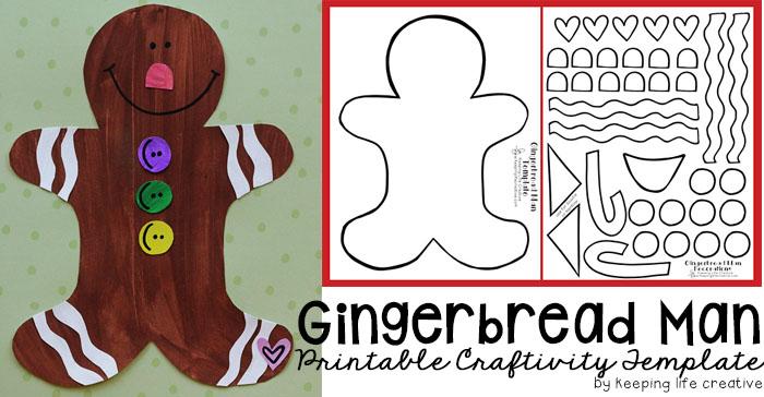 printable gingerbread man craft keeping life creative