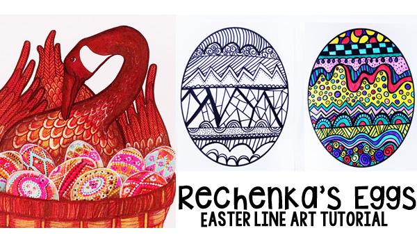 Easter Egg Line Art Keeping Life Creative